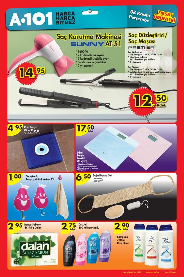 a101 8kasim A101 Market 8 14 Kasım 2012 Aktüel İndirimli Ürünler Broşürü