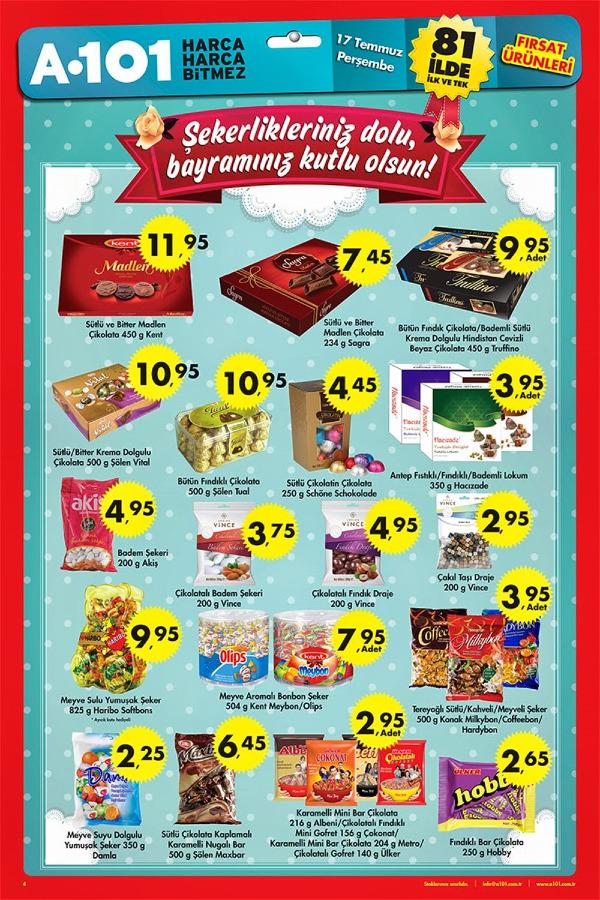 A101 bayram şekerleri ve çikolataları kataloğu 2014