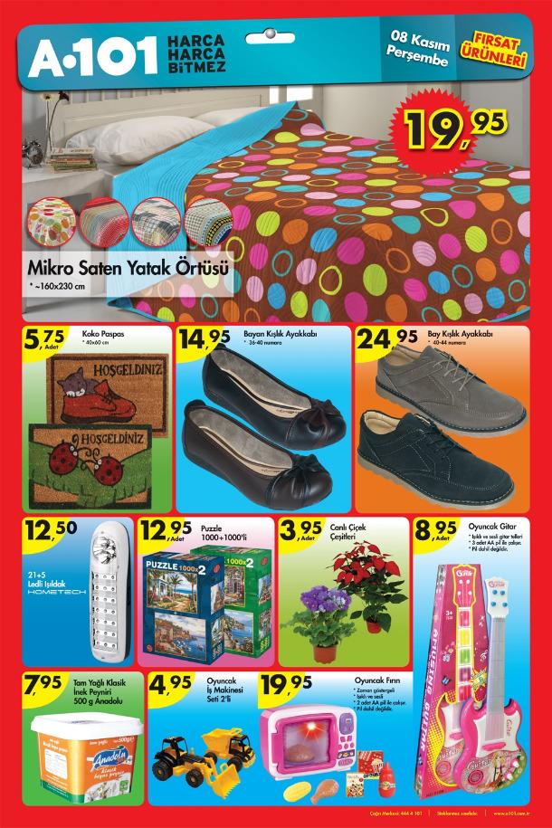 a101 katalog 3 A101 Market 8 14 Kasım 2012 Aktüel İndirimli Ürünler Broşürü