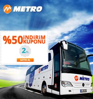 Metro Turizm otobüs biletlerinde %50 indirim kuponu govego