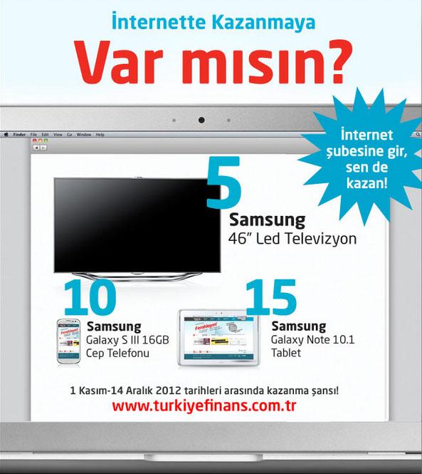 Türkiye finans internet şubesi çekiliş kanyası