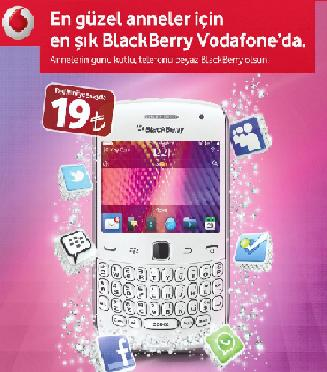 Vodafone anneler günü kampanyasında BlackBerry Curve 9360 ayda