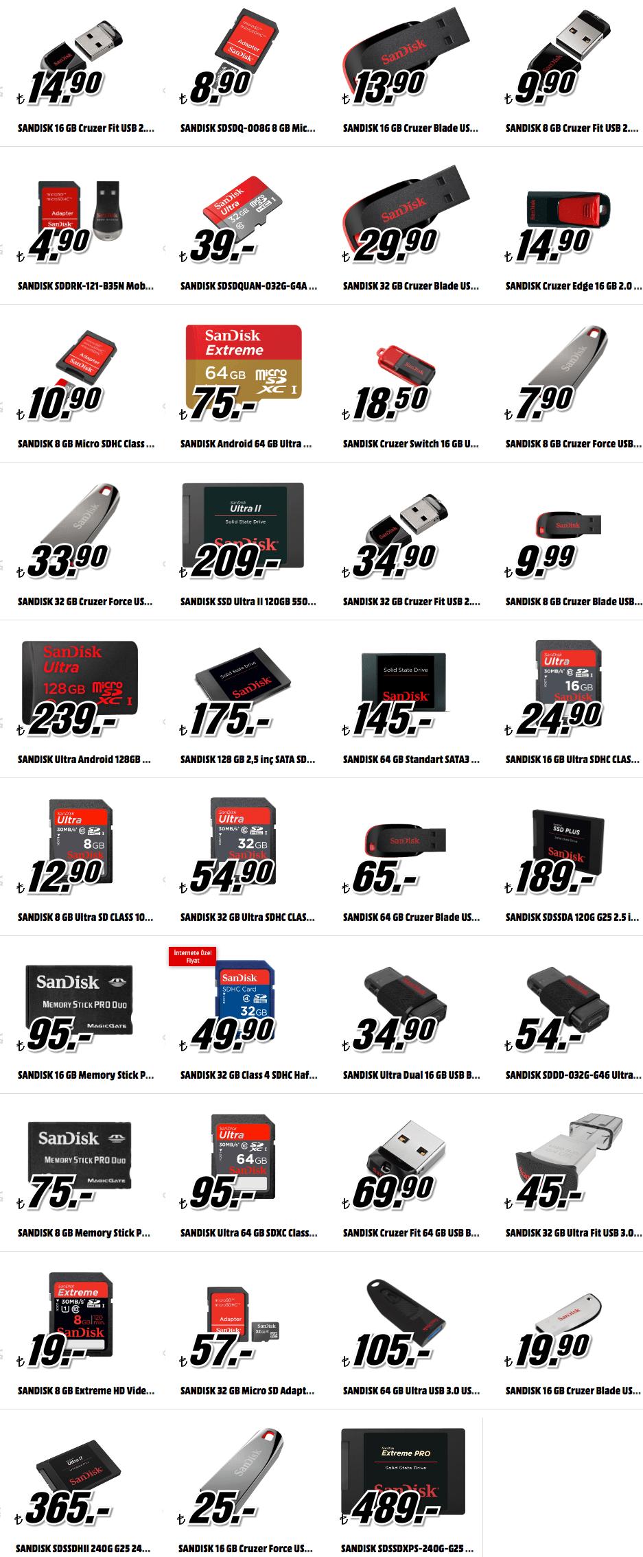 Media Markt Sandisk fiyatları