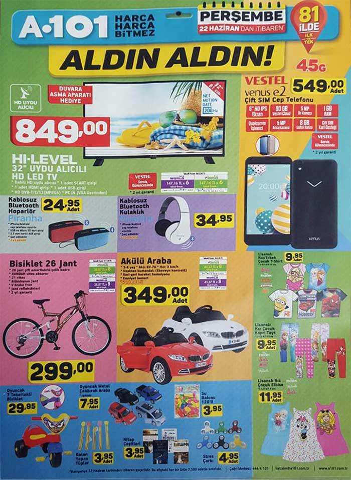 a101 22 haziran - 29 haziran 2017 aktüel ürün katalogları