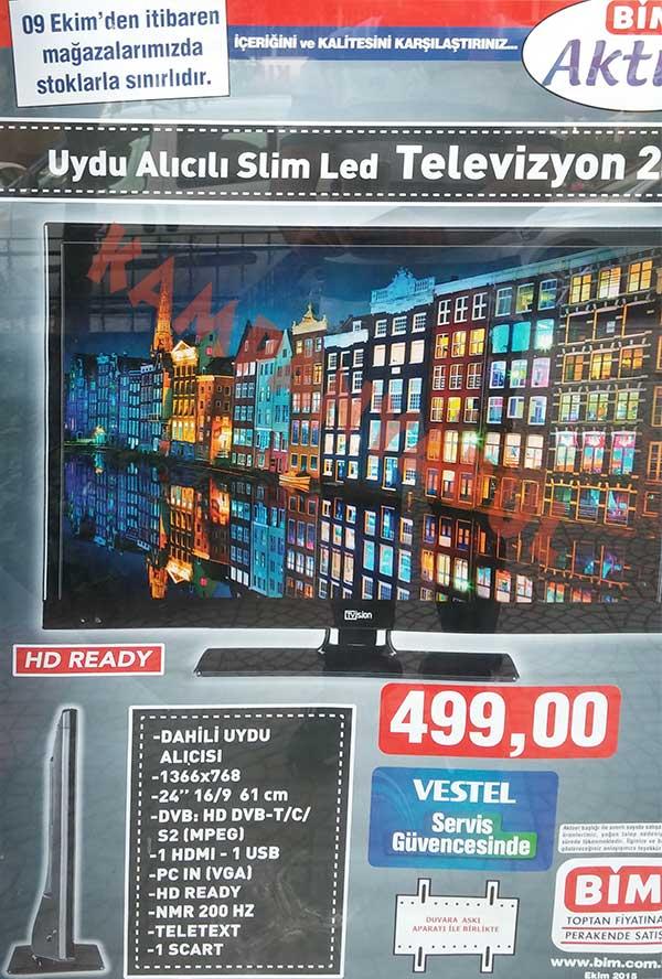 Bim Tvision televizyon 499 TL