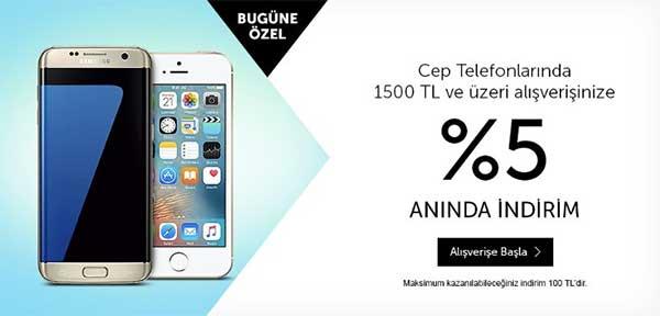 N11 cep telefonu kampanyası %5 indirim ve 100 TL bonus ...