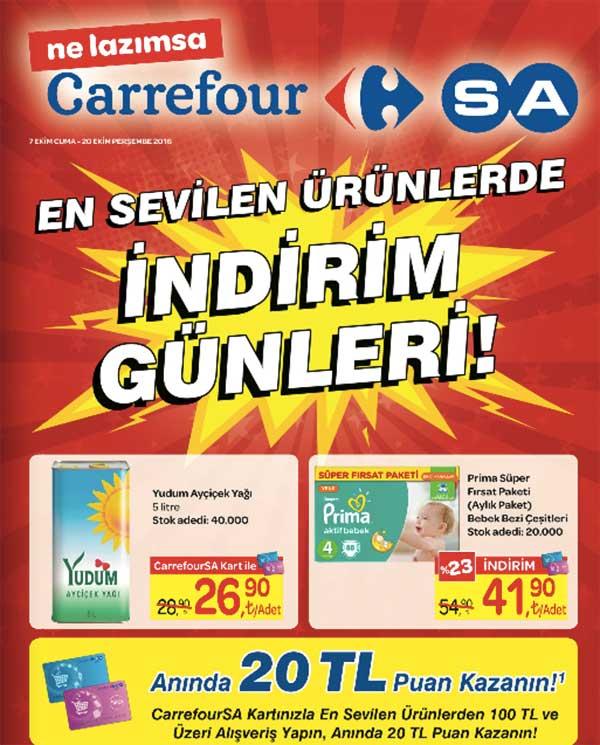 2a336c1a647be Carrefour indirim günlerinde bu hafta 7-20 Ekim 2016 tarihleri arasında  geçerli olacak indirimli fiyat fırsatlarını aşağıdaki kampanya kataloğunda  ...