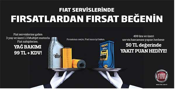 Fiat Yetkili Servislerde Yağ Bakımı 99 Tlkdv Kampanyabulorg