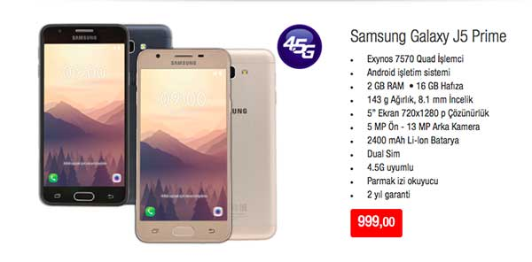 Bimden Samsung Galaxy j5 prime cep telefonu alınır mı ...