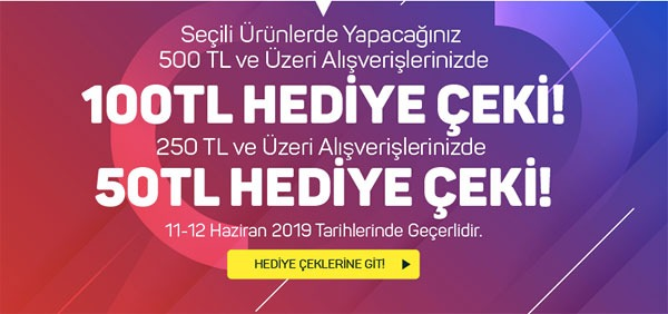 A101 market online 100 TL hediye çeki kampanyası 11-12 Haziran 2019