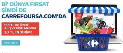 Türk Telekom Carrefour market 20 TL indirim kodu kampanyası
