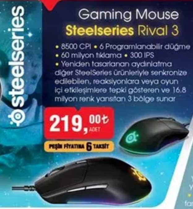 Bim Steelseries Rival 3 oyuncu mouse alınır mı? KAÇIRMA | Kampanyabul.org