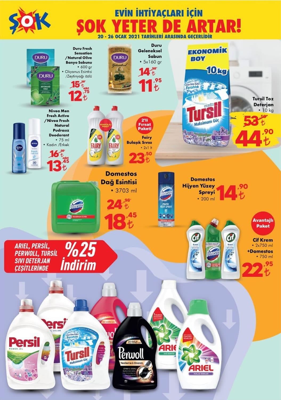 şok deterjan fiyatları