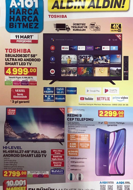 A101 Toshiba tv 2021 fiyat