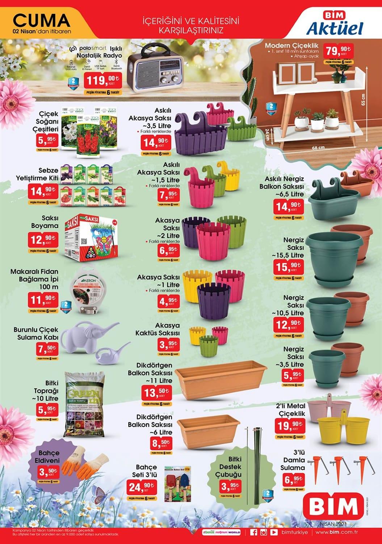 Bim çiçek ve saksı fiyatları 2021