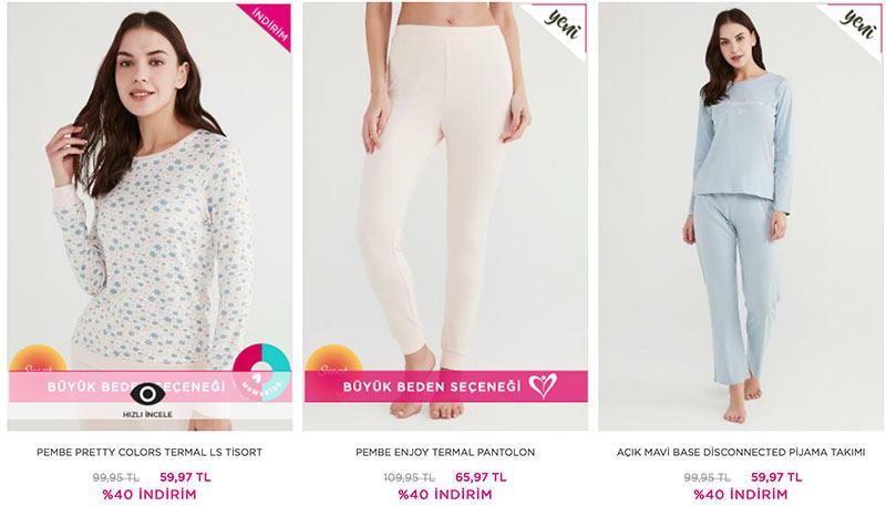 Penti pijama kampanyası