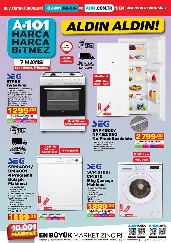 a101 seg bulaşık çamaşır makinesi