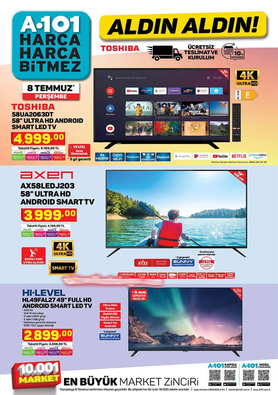 A101 tv fiyatları 2021